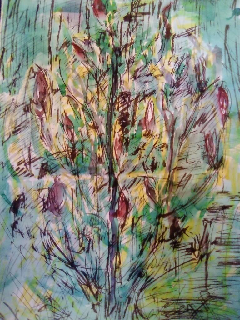 l'arbre accepte ses calices, même imparfaits